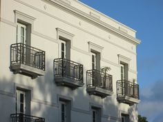 Balconies at sunrise, Citrus Square New Classical Architecture, Balconies, Sunrise, Traditional, Mansions, House Styles, Beautiful, Verandas, Neoclassical Architecture