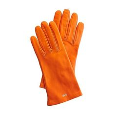 Mark & Graham Women's Italian Leather Classic Glove, Size 6.5,... ($120) ❤ liked on Polyvore featuring accessories, gloves, orange, orange gloves, lined gloves, cashmere-lined leather gloves, orange leather gloves and leather gloves