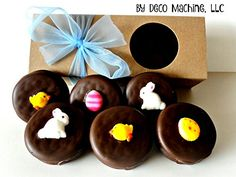 Milk Chocolate Dipped Oreo Cookies EASTER SPRING Bunnies Chicks Eggs Gift Box