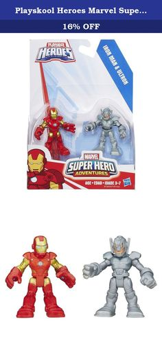 Playskool Heroes Marvel Super Hero Adventures Iron Man and Ultron Figures. Give your little hero an incredible matchup of courage and villainy with this dynamic duo of hero and evildoer figures! These Iron Man and Ultron figures are sized just right for his little hands – and his adventures. With this 2-pack, the battle between good guys and bad guys is in the palm of your little crime-fighter's hand! Playskool and all related terms are trademarks of Hasbro. Marvel products are produced…