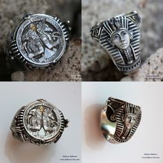 """""""Horus & Anubis"""" ring by Aleksey Saburov. I love his work, has such a great touch."""