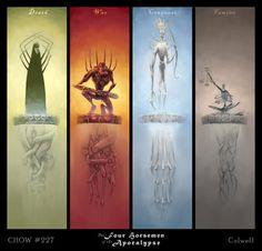 names of the four horsemen Apocalypse Art, Horse Quotes, Arte Horror, Creature Concept, Angels And Demons, Fantasy Artwork, Mythical Creatures, Dark Art, Cool Art