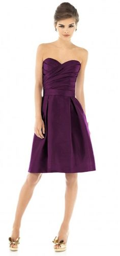 bridesmaid dress idea! I would love to have a purple and grey/silver theme....