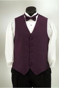 Plum with matching bow or windsor tie at Tuxedo Junction.