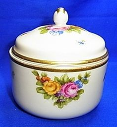 Antique German Rosenthal Porcelain Box Candy Container #BI