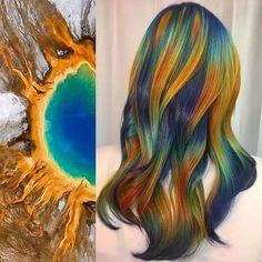 Tendência de cabelos coloridos inspirados na natureza