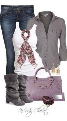 Women's Fashion - outfit ideas // Purple