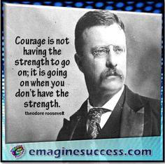 Courage creates possibilities and opportunities never imagined. #courage #roosevelt #bartism http://emaginesuccess.com