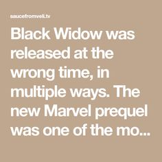Black Widow was released at the wrong time, in multiple ways. The new Marvel prequel was one of the most high-profile films to be displaced by the constantly shifting theatrical release schedule caused by the shuttering of theaters due to the COVID-19 pandemic. But Black Widow — a film set between Captain America: Civil War's… Captain Marvel, Captain America, Bangla Comics, I Get Money, Black Widow Avengers, Marvel Show, Wrong Time, Doctor Strange, Guardians Of The Galaxy
