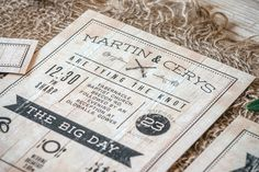 Western Bar-room themed invitations that are suited to any bride looking for something alternative.