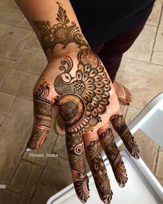 Simple Floral Mehndi Henna Designs For Hands - ArtsyCraftsyDad Henna Designs, Peacock Mehndi Designs, Simple Arabic Mehndi Designs, Full Hand Mehndi Designs, Mehndi Designs 2018, Mehndi Designs For Beginners, Wedding Mehndi Designs, Mehndi Designs For Fingers, Latest Bridal Mehndi Designs