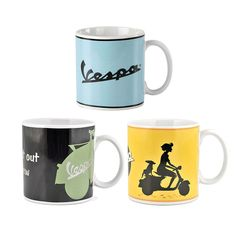 Multi Ensemble De 4 Retro Scooter-Lambretta mugs