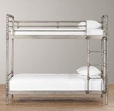 What a GREAT bunk!!! Industrial Steel Pipe Bunk Bed | Bunk Beds | Restoration Hardware Baby & Child