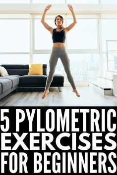 These fat burning plyometric exercises for beginners will help you boost your power, speed, and endurance while also burning calories for weight loss! Plyometric Workout, Plyometrics, Cardio Workout At Home, Butt Workout, Fit Board Workouts, Fun Workouts, Fitness Tips, Fitness Motivation, Explosive Workouts