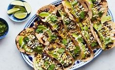 Spicy Black Bean and Corn Tacos
