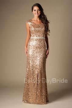 Modest prom dresses with a sheath style to wow your friends. On sale now at LatterDayBride and Prom. Modest Homecoming Dresses, Modest Formal Dresses, Casual Dresses, Modest Evening Gowns, Inexpensive Dresses, Concert Dresses, Dance Fashion, Modest Fashion, Pretty Dresses