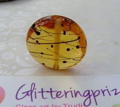 Lampwork Glass Bead Graffiti Scribble In by GlitteringprizeGlass for jewellery making