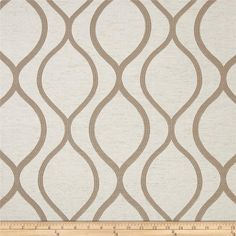 Eroica Lancaster Jacquard Beige from @fabricdotcom  This lightweight woven jacquard fabric has a slight sheen and is perfect for window treatments (draperies, curtains, valances, swags), duvet covers, pillow shams, toss pillows, slipcovers and upholstery. Colors include tan on an oatmeal background.
