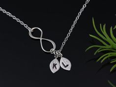 Silver INFINITY Necklace Love Mother daughter Gift by MonyArt, $24.80
