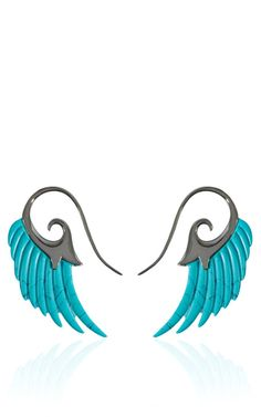 Noor Fares Fly Me To The Moon Turquoise Earrings