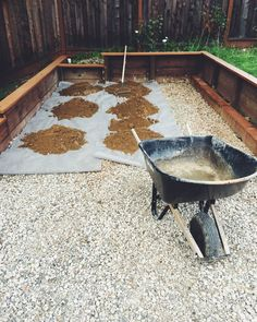 Building a bocce court. by Jason Jurgens - Storehouse
