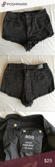UO Black High Waisted Shorts Black High Waisted Jean Shorts from BDG, urban outfitters' Jean brand. 29 inch waist, there are no signs of use. In EUC Urban Outfitters Shorts Jean Shorts