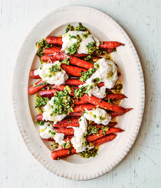 Roasted Carrots with Burrata