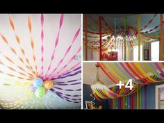 Crepes, Decoration, Ideas Para, Event Planning, Birthdays, Google, Youtube, Frozen, Crepe Paper Streamers