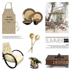 """""""Summer BBQ"""" by helenevlacho ❤ liked on Polyvore featuring interior, interiors, interior design, home, home decor, interior decorating, AK47 and John-Richard"""
