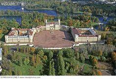 palace at Gatchina   Russia, Gatchina. Palace by A. Rinaldi (1766) aerial view [357WBU05038 ...