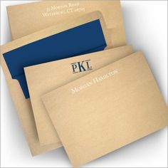 Craft Paper Correspondence Cards