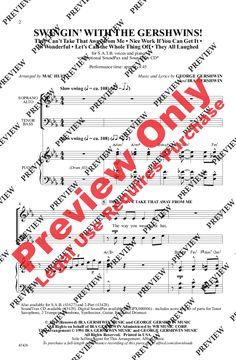 Swingin' with the Gershwins (SATB) by Georg | J.W. Pepper Sheet Music