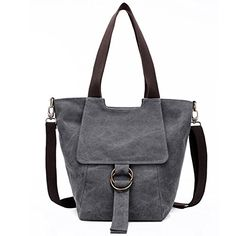8c1ec1d77 Sanxiner Womens Canvas Shoulder Tote Bag Top Handle Handbag Gray ** Read  more at the