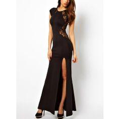 Black Lycra and Satin, Evening Dress RRP: $110.00 Now $52.00 Total Savings $58.00