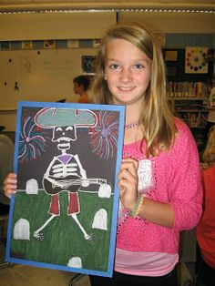 grade artists are studying Mexican and South American Art as our school district's cultural focus for this year. We learned about the . Jamestown Elementary, Elementary Art, South American Art, Fall Art Projects, Mexican Holiday, 5th Grade Art, Arts Ed, Autumn Art, Mexican Art