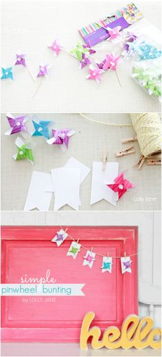 Simple pinwheel bunting | lollyjane.com