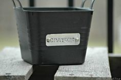 s 10 clever ways to decorate plastic bins, home decor, storage ideas, Add metal…