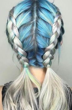 Pastel Hair Braids : https://www.etsy.com/shop/lunartideshair