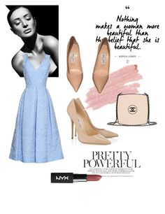 """""""Blue&Pink"""" by woodsenlikethis ❤ liked on Polyvore featuring Jimmy Choo, Erdem, Jane Iredale and Chanel"""