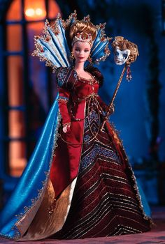 A Venetian tradition is captured in this 18th century-style masquerade gala ensemble. Venetian Opulence™ Barbie® Doll