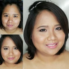 #BeforeAndAfter Fresh makeup for her civil wedding  Congratulations Dianne She doesn't usually wear makeup so I kept it light for her. I focused on making her skin glow and fresh. Perfect for a simple blushing-bride look.  Hair and Makeup by @loveaimeeg #MakeupByAimeeG #makeupartistph #makeupartist #hmua #hmuaph #mua #muaph #makeup #hairstylist #hair #beauty #WeddingsPh #BridesPh #BridalMakeup