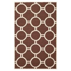 Safavieh Sullivan Texture Wool Rug - Dark Brown / Ivory (4' X 6'), Dark Brown/Ivory