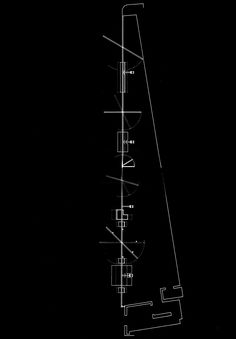 STEVEN HOLL AND VITO ACCONCI  FLOOR PLAN OF THE STOREFRONT FOR ART AND ARCHITECTURE, 1994