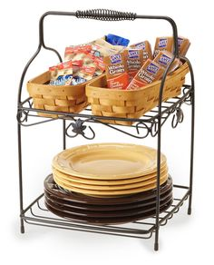What a cute way to use the new Longaberger Wrought Iron 2-Tiered Server