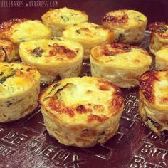 Spinach Frittatas – Gluten-free, Grain-Free, Corn-Free Makes 12. Ingredients: Coconut Oil or Olive Oil to grease muffin pan 1onion, cut lengthways and finely sliced 1 garlic clove 600 g pu…