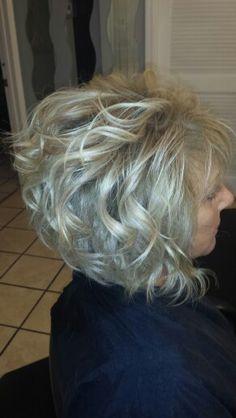 Salon Envy... graduated Bob. .. Platinum blonde color