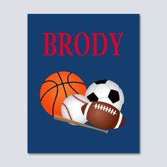 """Sports Wall Art,Sports Kids Wall Art,Sport Monogram Wall Art,Basketball soccer baseball football room decor,sports décor,All Sports -8""""x10"""" UNFRAMED PRINT(NOT CANVAS) C293. PRINTS: Includes one(8x10) UNFRAMED prints on 68lb. UltraPro Satin Luster Photo Paper. NOT CANVAS. You will need your own frames. Each print set will be inserted in a clear sleeve and packed in a rigid flat mailer. Prints will be mailed via USPS first class mail with tracking (NOT UPS)."""