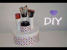 Como fazer organizador de maquiagem ? - YouTube