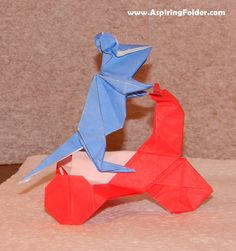 Origami Mouse on an Origami Tricycle