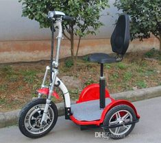 Hot Selling Powerful Three Wheel Electric Tricycle Scooter Bike Bicycle Motorbike 500W Motor Green Personal Transporter For Elderly Disabled Self Balancing Motorcycle Scooters Electric From Sophie2013, $482.42   DHgate.Com Electric Scooter With Seat, Electric Tricycle, Scooter Bike, Bicycle, Third Wheel, Motorbikes, Scooters, Motorcycle, Green